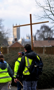 Pilgrims walking to Canterbury 1
